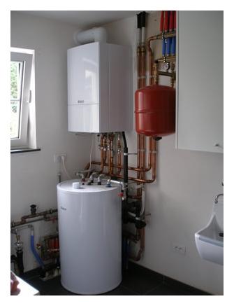 solo ketel met indirect gestookte boiler