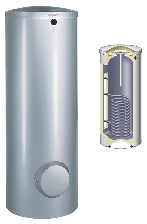 tapwater boiler voor een warmtepomp
