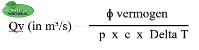 formule om flow te berekenen