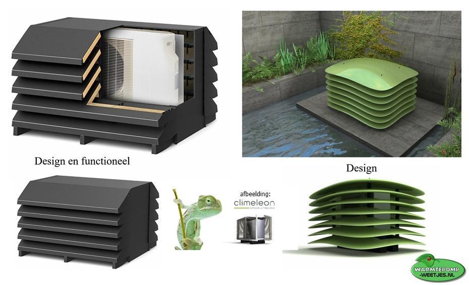 geluid demper lucht water warmtepomp geluiddempende omkasting mooi en functioneel