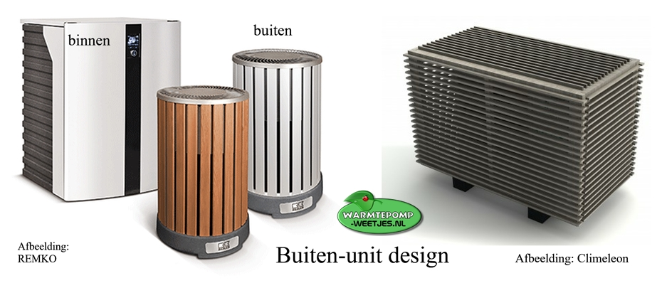 design lucht water warmtepomp buiten unit