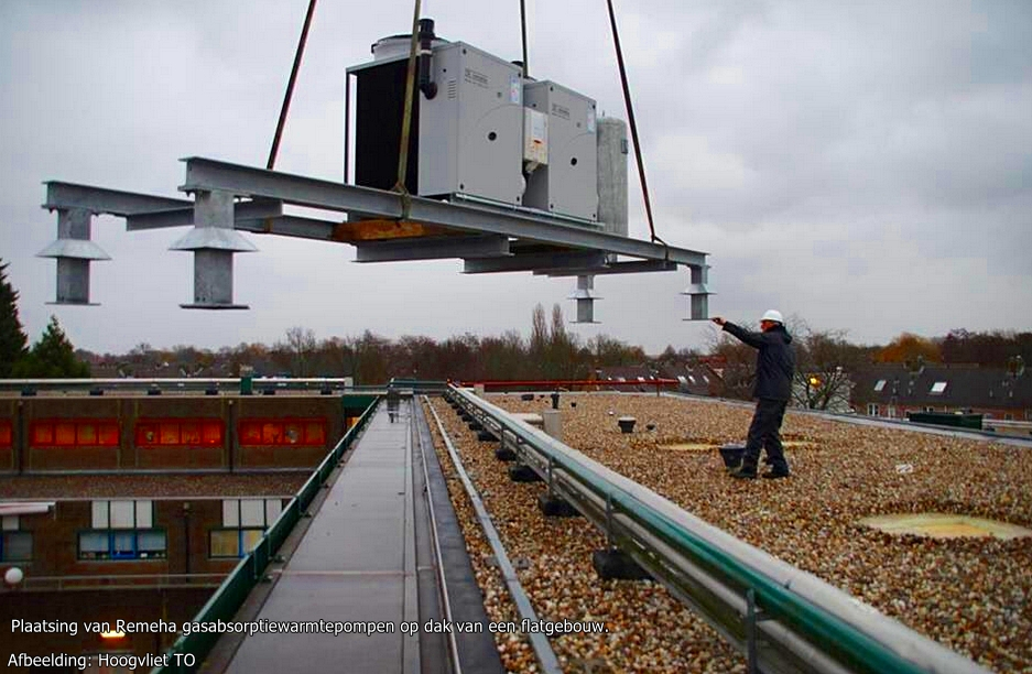 plaatsing van gasabsorptiewarmtepompen