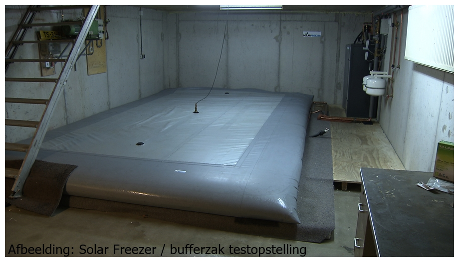 solar freezer test opstelling bufferzak warmtepomp