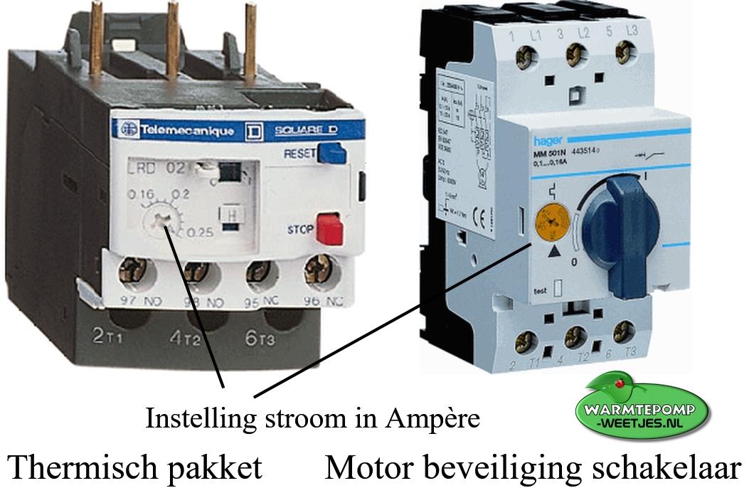 thermisch pakket warmtepomp motor beveiliging